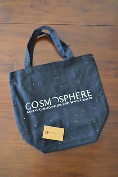 20oz Cotton Canvas Tote Bags - Black Color. Promotional
