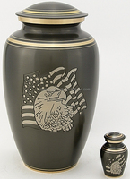 wholesale newly designed human metal cremation urn | Wholesale Pure Metal Ceramic Adult Cremation Urns