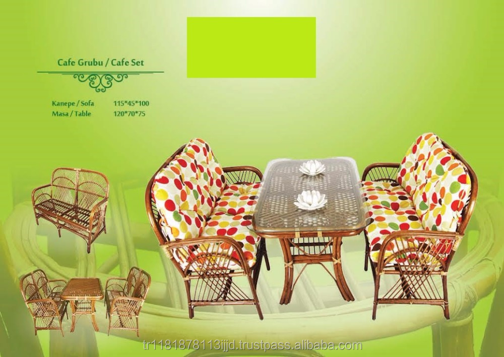 Outdoor dining table set / Turkish Origin / rattan furniture