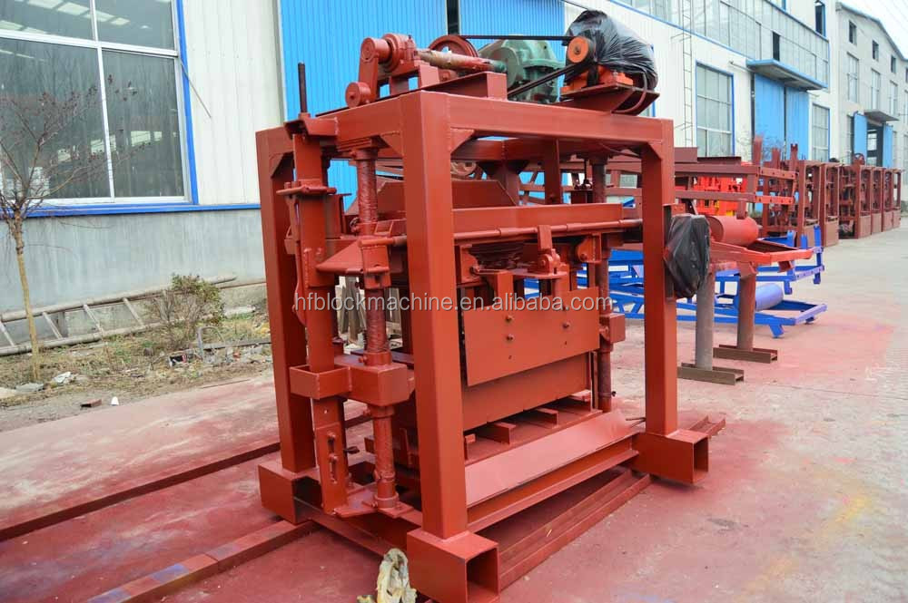 QTJ4-40 small block machine,hand manual concrete block making machine, cement hollow block machine
