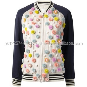 Ladies college jacket/baseball jacket for girls/boys/kids