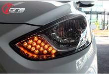 [IONE] Accent 2011 - Head Lamp Turn Signal LED Modules Set (T Ver.) (no.0265)