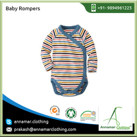 Bulk Selling of Pima Cotton Baby Clothing Rompers with Custom Prints at Wholesale Price