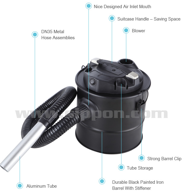 New GS Electric Ash Vacuum Cleaner with stainless steel tank