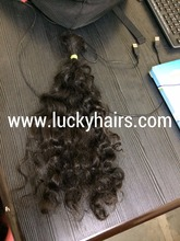 Best quality Virgin Human Braiding Body Wave Ebony Raw Indian Hair Directly From India