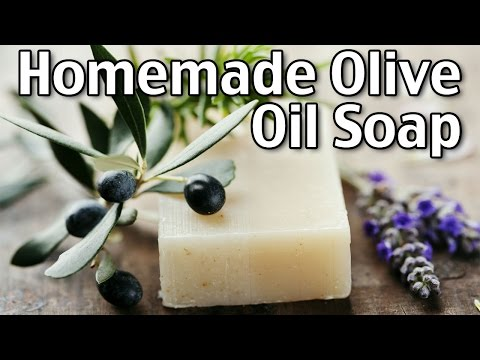 Making Homemade Luxury Olive Oil Soap