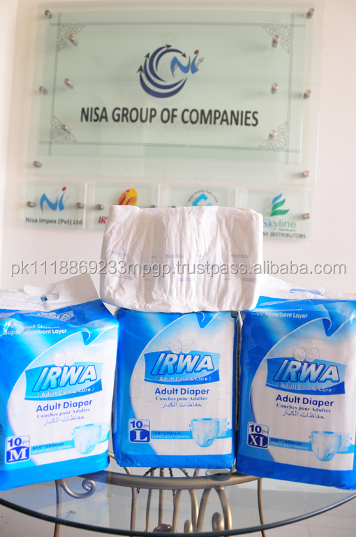 IRWA Adult Diaper,Disposable diapers for Adults, super Absorbent