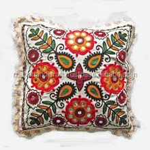 16'' Decorative Cotton Pillow Case Throw Indian Home Decor Suzani Cushion Cover