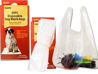 DOG POOP BAGS 50PC DISPOSABLE 19X28CM 1.5C, #19186