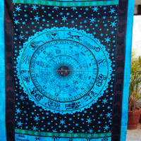 Traditional Zodiac Astrology NCTT-91A Mandala Twin Tapestry