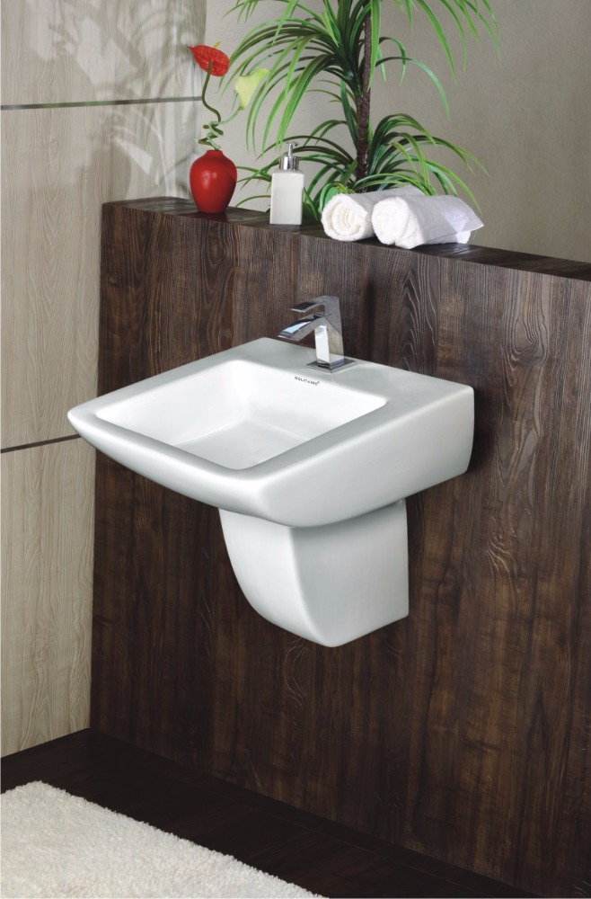 FINCH WASH BASIN WITH HALF PEDESTAL