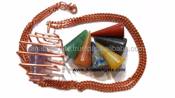 Chakra Engraved Crystal Pyramid set