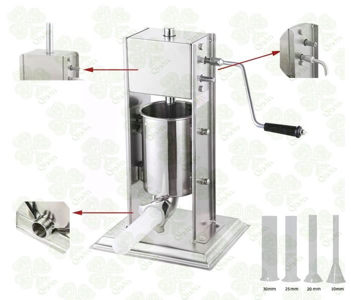 Chine approvisionnement 3l manuel verticale saucisses for Equipement de cuisine commerciale