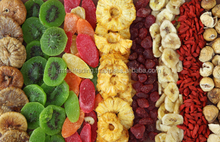 Freeze dried fruit pieces and granules
