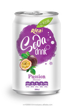 High quality 330 ml alu can Passion Flavor Soda Drink