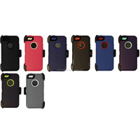 5/5S heavy duty hybrid case w/Belt Clip & screen protector