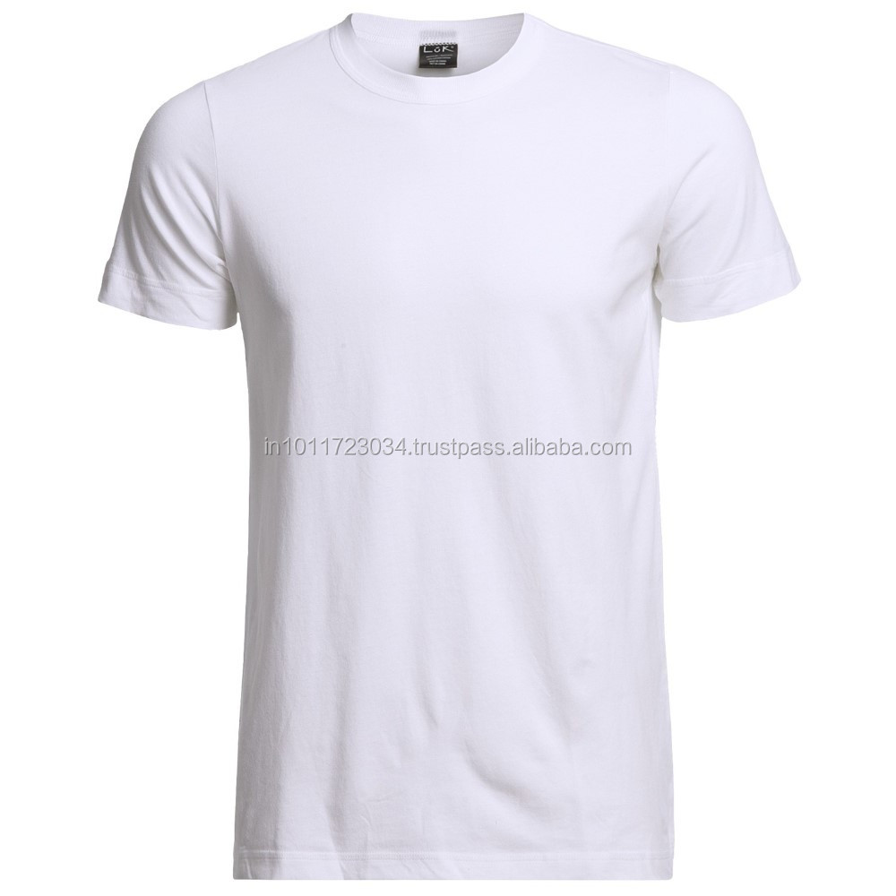 Men's Cheap Plain O-neck White Blank T Shirts For Printing ...