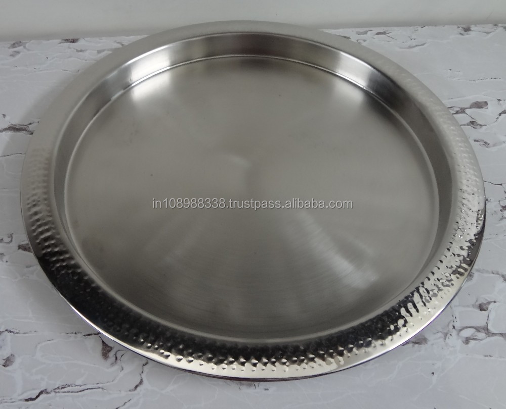 Stainless Steel Tray round bar tray Stainless Steel platter sheet metal tray