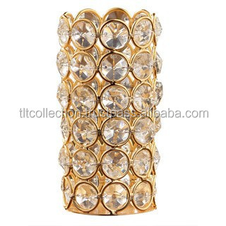 Gold-Crystal-Tealight-Holder/ Wedding Centerpieces