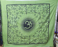 Indian hindu Gods wall tapestries wall hangings Om ganesha buddha gecko ocean printed double sized bed sheets