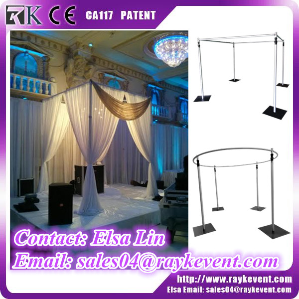 China best price 8ft to 14ft adjustable wedding pipe and drape backdrop used pipe and drape for sale