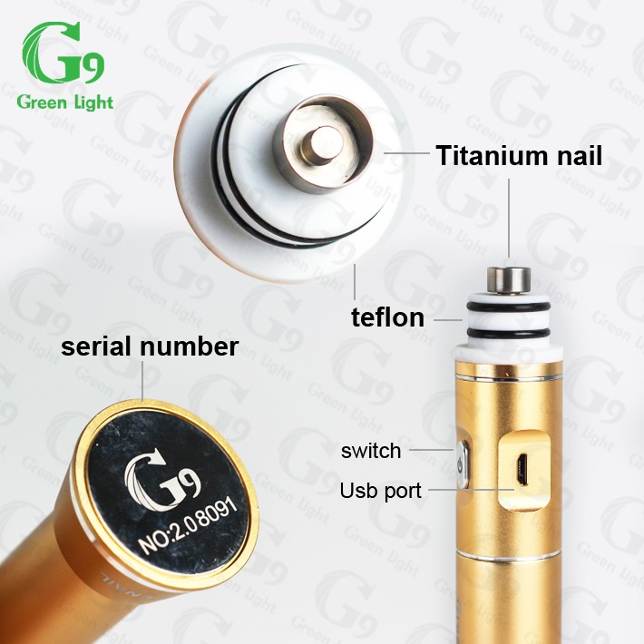 Innovative products 2016 authentic G9 henail with two slits glass bubbler G9 H-eNail