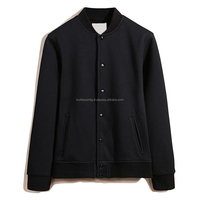 Stand collar pure color casual jacket for men and women.