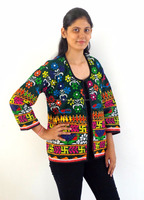 Boho hippie Jacket/Kutch embroidered Cotton readymade Jacket/Wholesale
