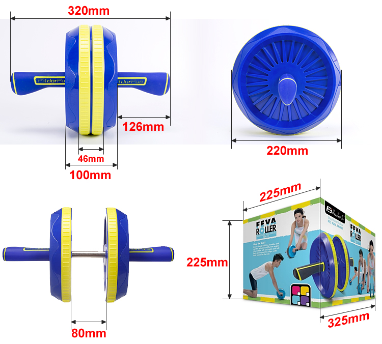 2016 Power Exercise abdominal Wheel Fitness adjustable indoor exercise AB Roller