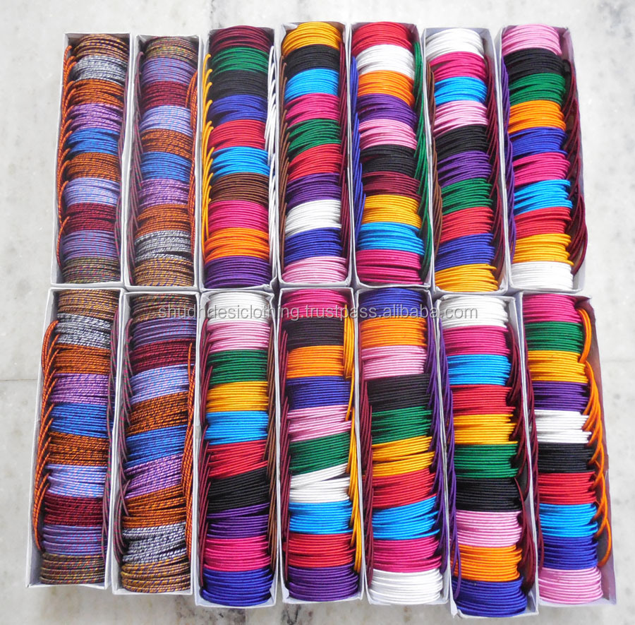 wholesale indian best multi-colored silk thread bangles lot, View ...
