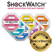 ShockWatch 2 Impact Indicators - Different Sensitivities Available