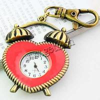 red Zinc Alloy Keychain Watch