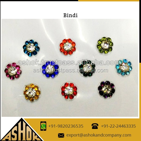 Fashion Round Bindi Sticker / Latest Designer Women Round Bindi