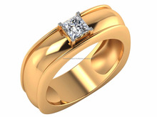 Smile Sparkle Shine Jewelry Beautiful Diamond Ring 14kt IGI Certified Diamond Solitaire 0.50ct. For Male
