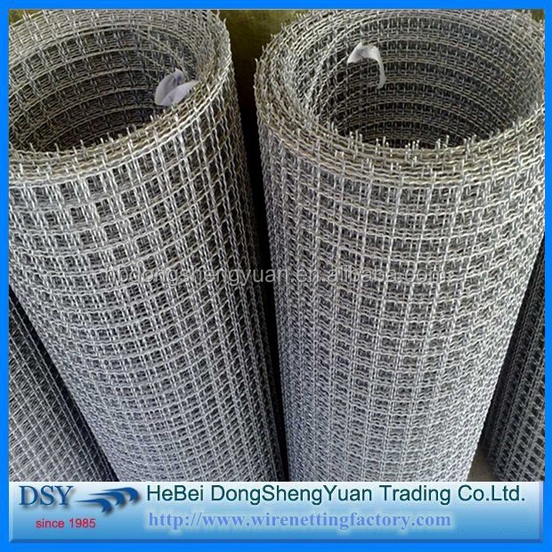 Mild Steel Crimped Wire Mesh /Heavy Duty 65Mn Steel Crimped Wire Mesh for Stone Crusher Screen