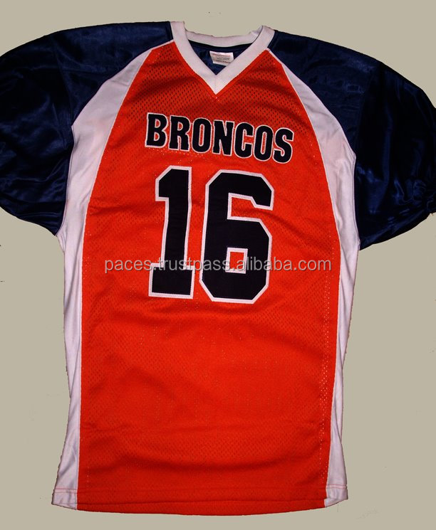 Good product for american football jersey 4 way stretch fabric tackle twill