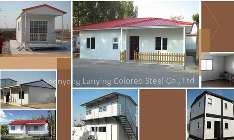 economic living light steel precabricated house