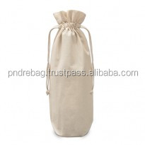 String cotton canvas wine bottle bags