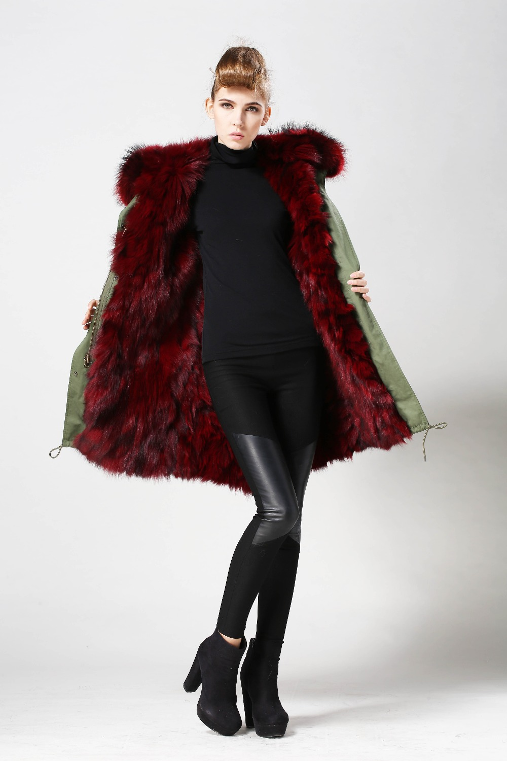 Parka Jacket With Fur Lining   Fit Jacket