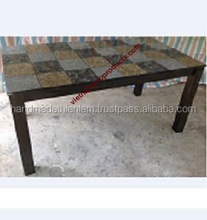 0410200915 vietnamese Lacquer table painting with eggshell for living room, 100% handmade lacquerware furniture