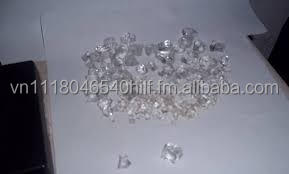 Cut and Uncut White Diamonds from Africa