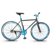 Garion 700C Fixie Fixed Gear Bike Matte Brown with Blue