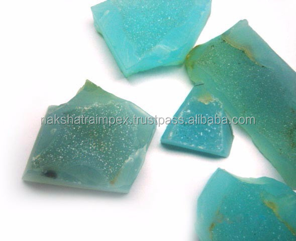 Natural Aqua Calci Rough Gem Stone