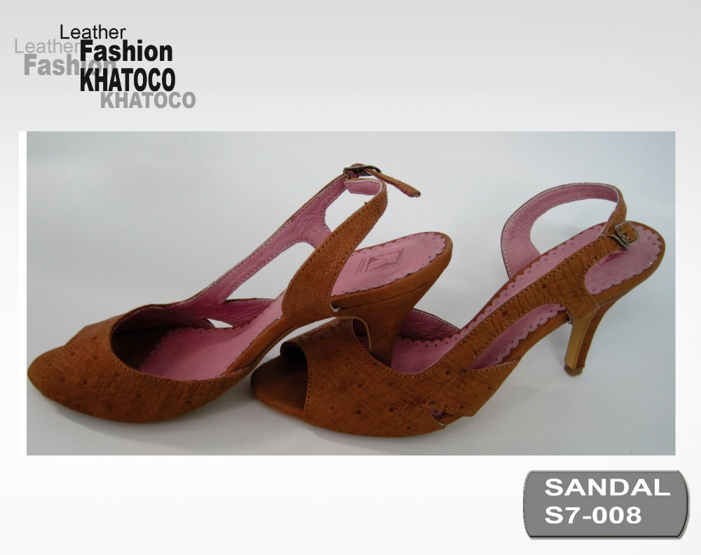 KHATOCO Ostrich Leather Sandals 09-S7-008