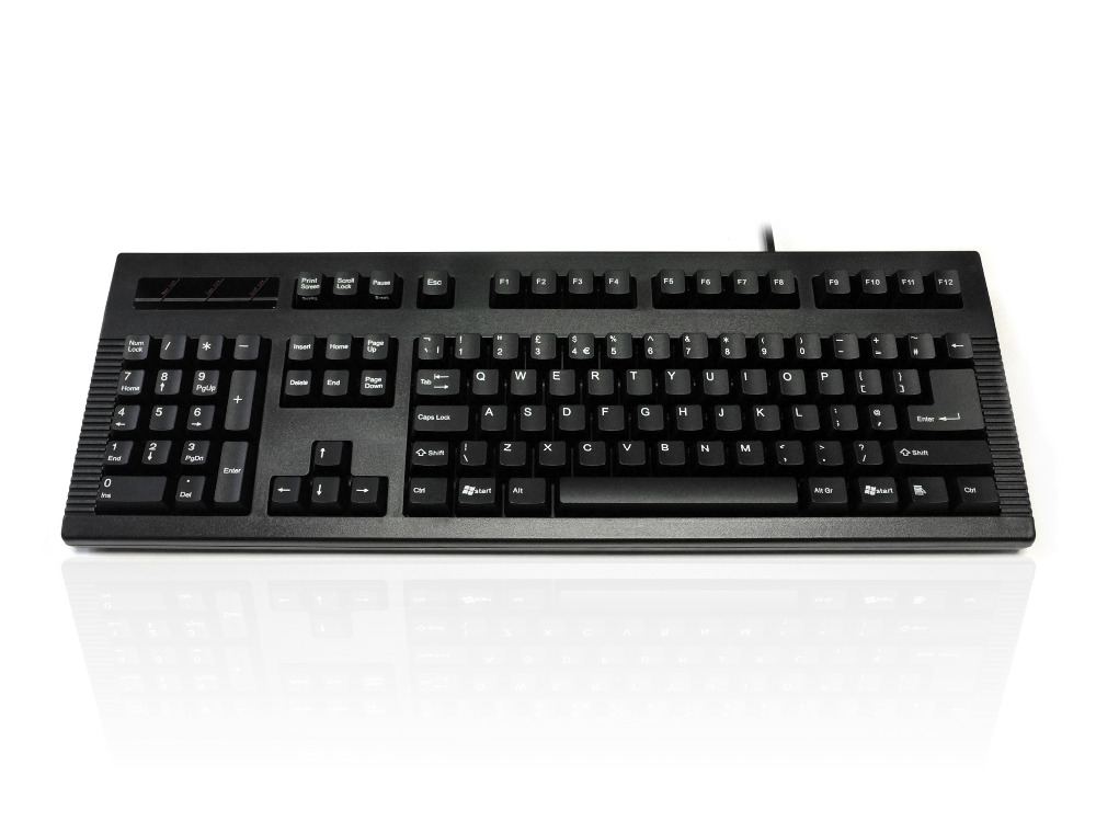 Accuratus Left Hander - USB & PS/2 Left Handed Full Size Keyboard with Cherry MX Keys