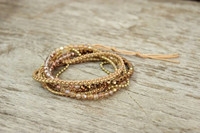 Five Wraps Crystal and Gold Beads Fair Trade Thailand