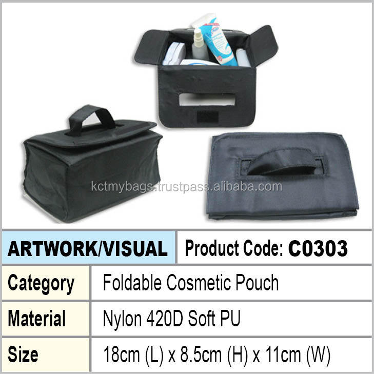 Foldable Cosmetic pouch