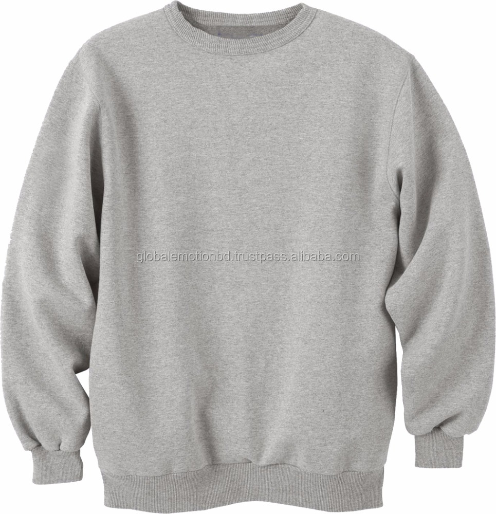 2017 Wholesale Bangladesh latest design sweatshirt for mens wear, 100% cotton french terry custom design crew-neck
