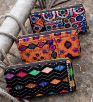 New Design colorful vintage embroidery banjara bag wallets