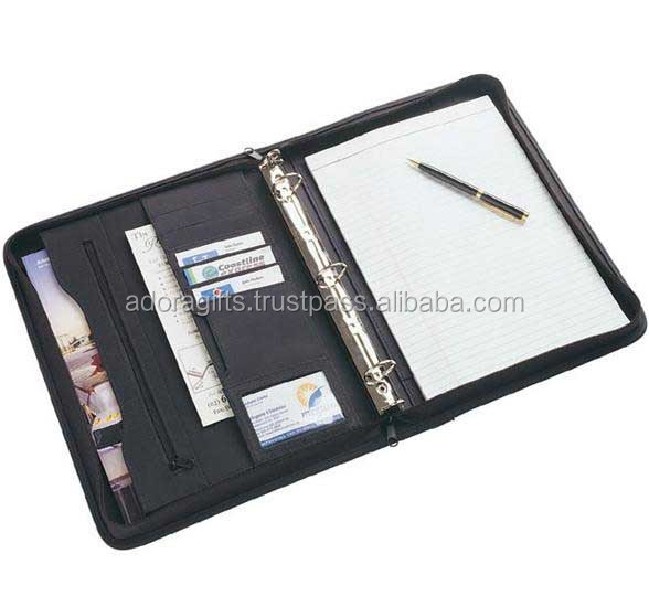 business office stationery A4 ring binder notebook diary book high-end color PU leather notepad